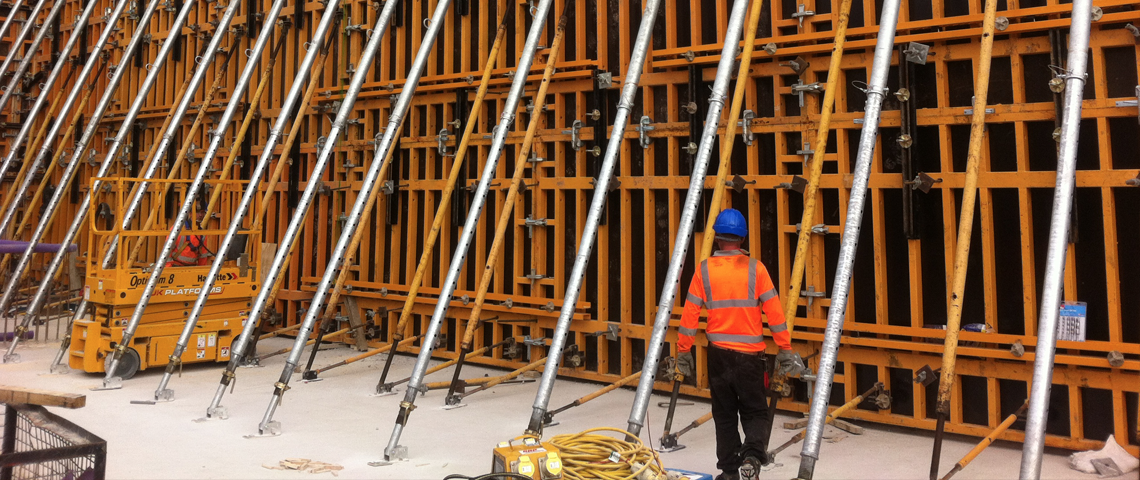 Orma Wall Formwork in use at Llwynn Onn WWTW