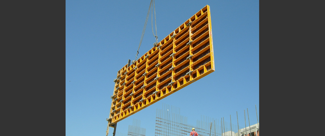 Orma Wall Formwork lifted